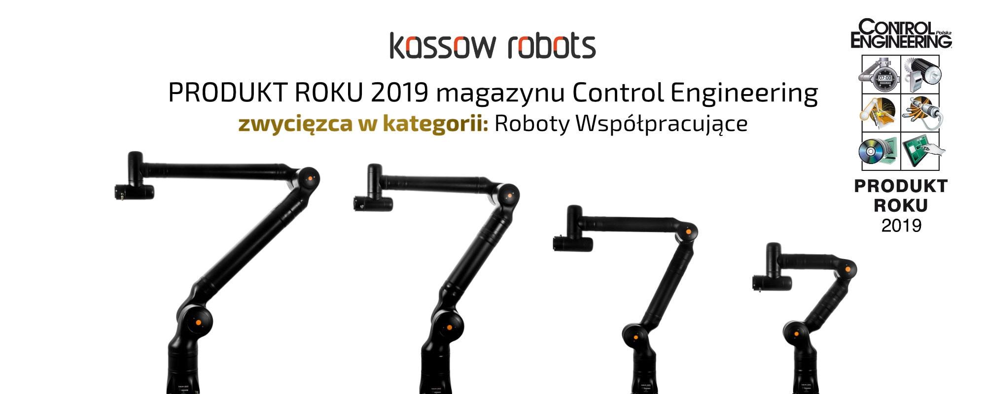 banner | rodzina kobotów Kassow Robots - zwycięzcą w kategorii Roboty Współpracujące konkursu Produkt Roku 2019 magazynu Control Engineering Polska